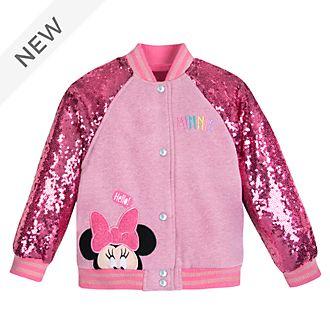 Disney Store Minnie Mouse Varsity Jacket For Kids