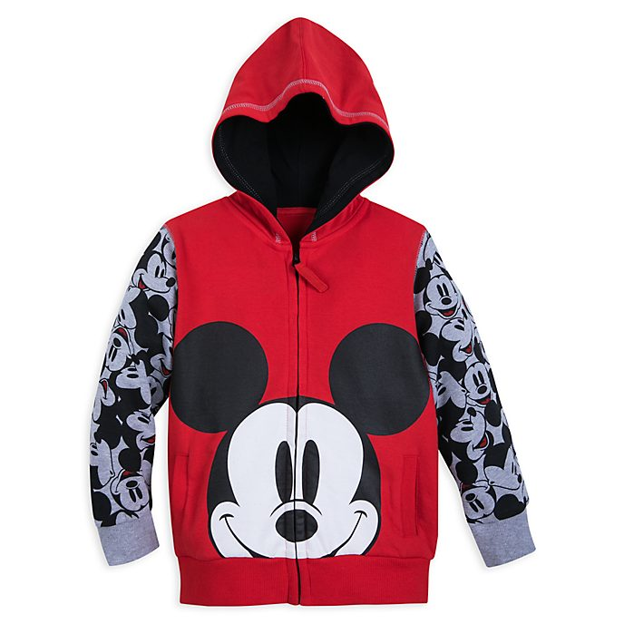Disney Store Mickey Mouse Zip-Up Hooded Sweatshirt For Kids