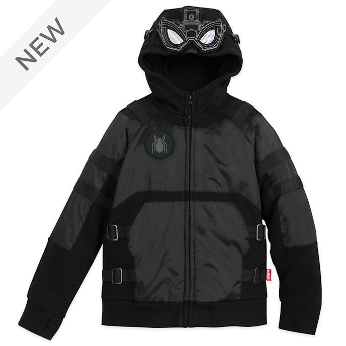Disney Store Spider-Man Black Hooded Sweatshirt For Kids