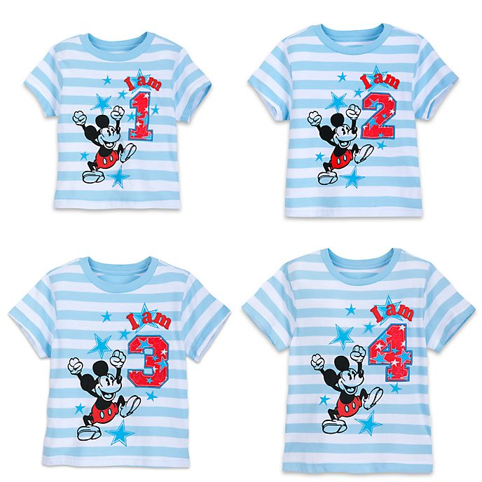 Mickey Mouse 'I am...' Number T-Shirt For Kids