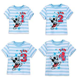 Camiseta infantil con texto y número de Mickey Mouse