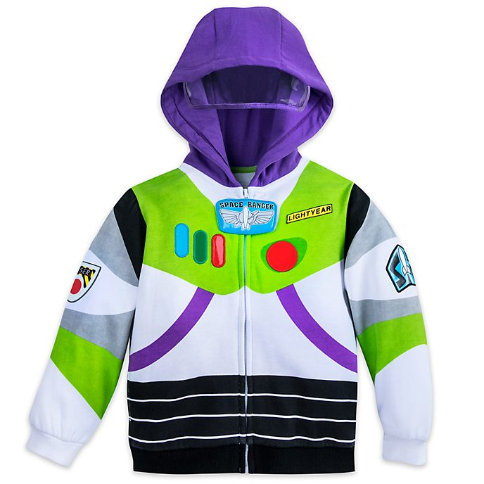 Disney Store Buzz Lightyear Light-Up Costume Hooded Sweatshirt For Kids