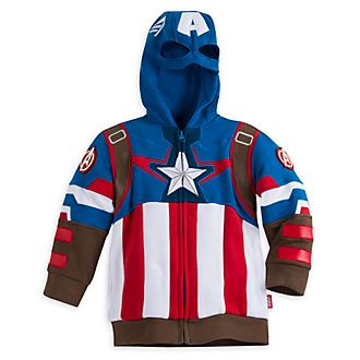 Disney Store Captain America Costume Hooded Sweatshirt For Kids