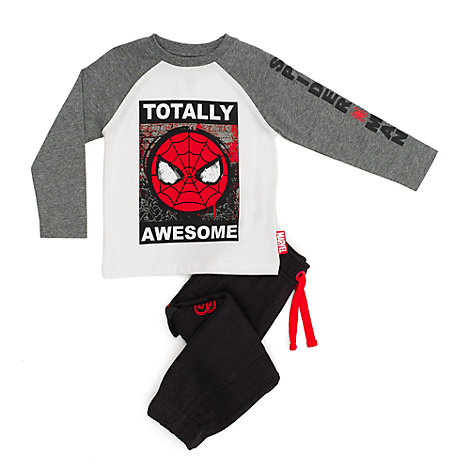 Spider-Man T-Shirt and Tracksuit Bottoms Set For Kids