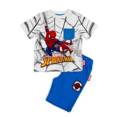 Conjunto infantil camiseta y pantalones cortos Spider-Man