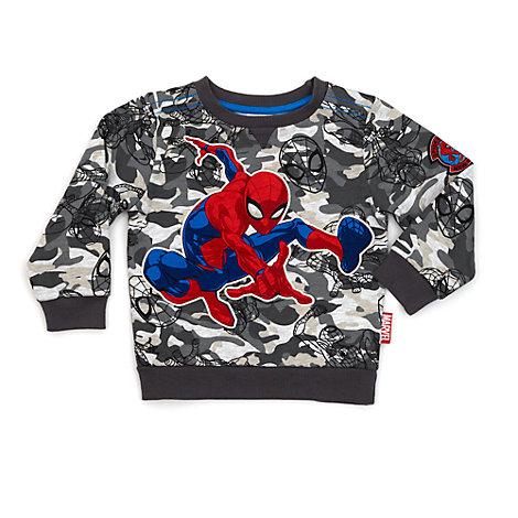 Sweatshirt style camouflage Spider-Man pour enfants