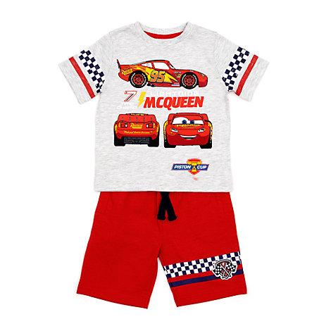 Completo bimbi maglietta e pantaloncini Saetta McQueen
