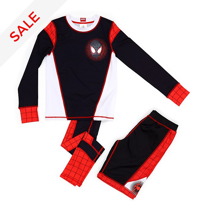 Disney Store Spider-Man: Into the Spider-Verse Top, Leggings and Shorts Set For Kids