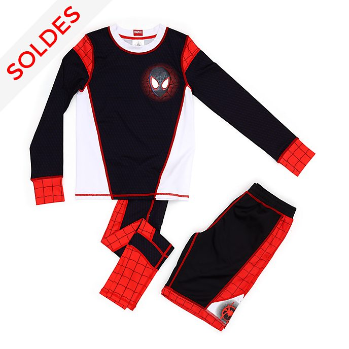 Disney Store Ensemble haut, legging et short Spider-Man: New Generation pour enfants