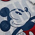 Conjunto de camiseta y pantalones cortos infantil Mickey Mouse