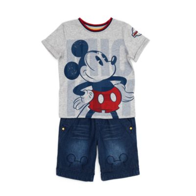 Ensemble T-shirt et short Mickey Mouse pour enfants