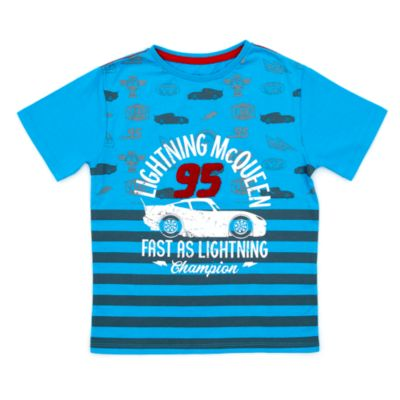 Camiseta infantil azul Rayo McQueen