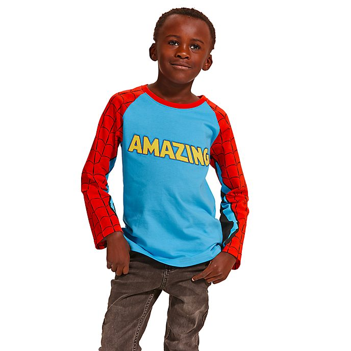 Disney Store Spider-Man Long-Sleeved T-Shirt For Kids