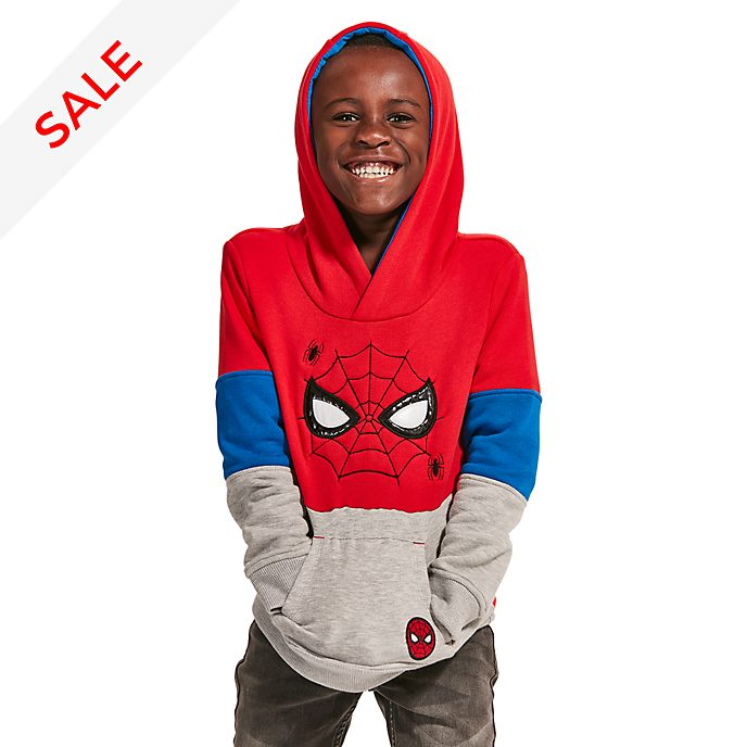 Disney Store Spider-Man Hooded Sweatshirt For Kids