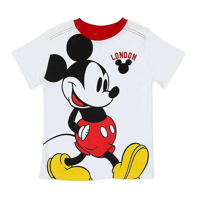 Camiseta infantil London Mickey Mouse en blanco, Disney Store