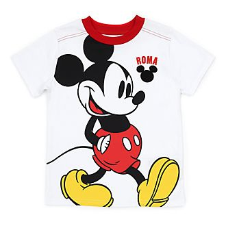 Disney Store Mickey Mouse Roma White T-Shirt For Kids