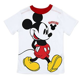 Camiseta infantil Barcelona Mickey Mouse en blanco, Disney Store