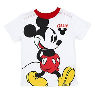 Disney Store Mickey Mouse Italia White T-Shirt For Kids