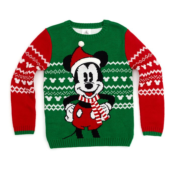 Disney Store Mickey Mouse Holiday Cheer Christmas Jumper For Kids
