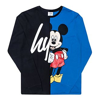 Hype Mickey Mouse Panel Long-Sleeved T-Shirt For Kids