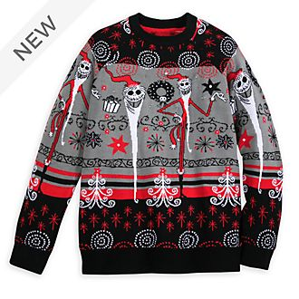 Disney Store The Nightmare Before Christmas Light-Up Christmas Jumper For Adults