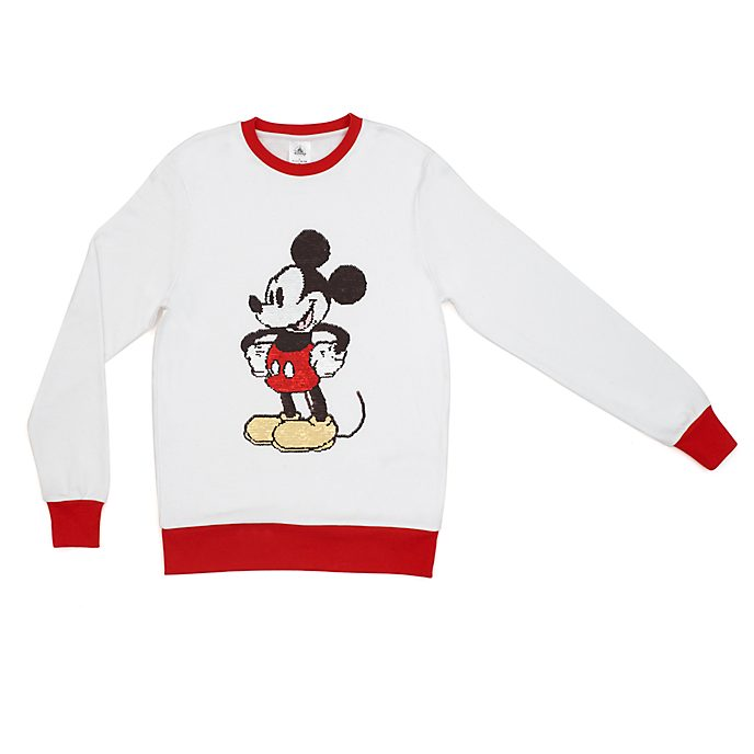 Disney Store Mickey Mouse Sequin Sweatshirt For Adults