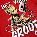 Maglietta adulti Groot Guardiani della Galassia Disney Store