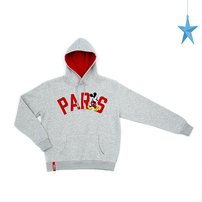 Sudadera con capucha Paris Mickey Mouse para adultos, Disney Store