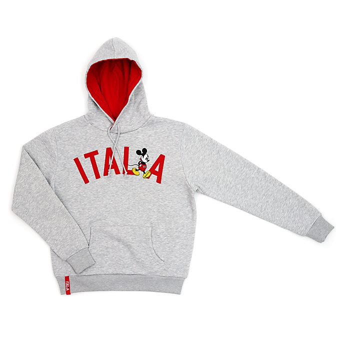 Sudadera con capucha Italia Mickey Mouse para adultos, Disney Store