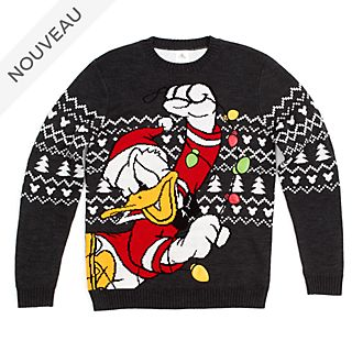 Disney Store Pull de Noël Donald pour adultes, collection Holiday Cheer