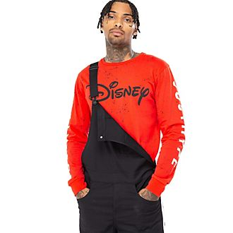 Camiseta roja manga larga Disney para adultos, Hype