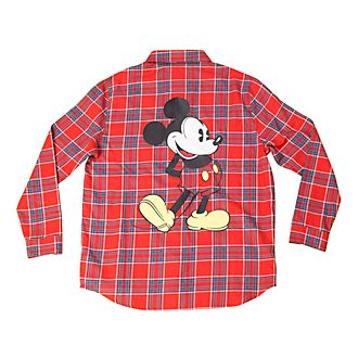 Cakeworthy Mickey Mouse Flannel Shirt For Adults