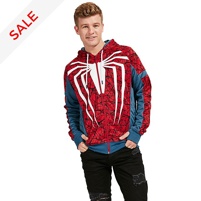 Disney Store Spider-Man Hooded Sweatshirt For Adults
