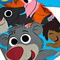Disney Store Pyjama Le Livre de la Jungle pour enfants, Furrytale Friends