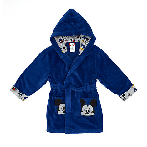 Mickey Mouse Hooded Dressing Gown For Kids