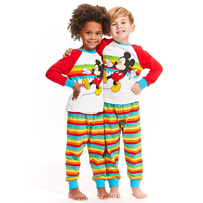 Disney Store Mickey Mouse Striped Pyjamas For Kids