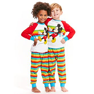 Disney Store Mickey Mouse Striped Pyjamas For Kids
