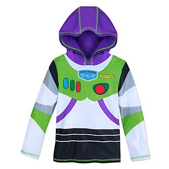 Disney Store Buzz Lightyear Hooded Rash Guard For Kids