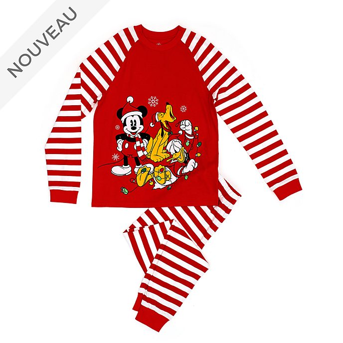 Disney Store Pyjama Mickey et ses amis pour hommes, collection Holiday Cheer