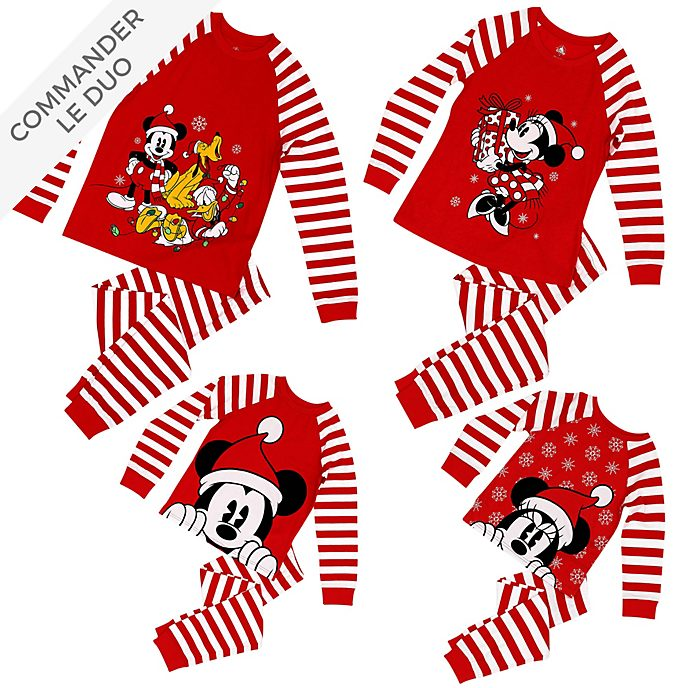 Disney Store Collection de vêtements d'intérieur Mickey et ses Amis, Christmas Family Loungewear