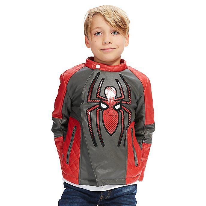 disney store spider man bikerjacke f r kinder. Black Bedroom Furniture Sets. Home Design Ideas