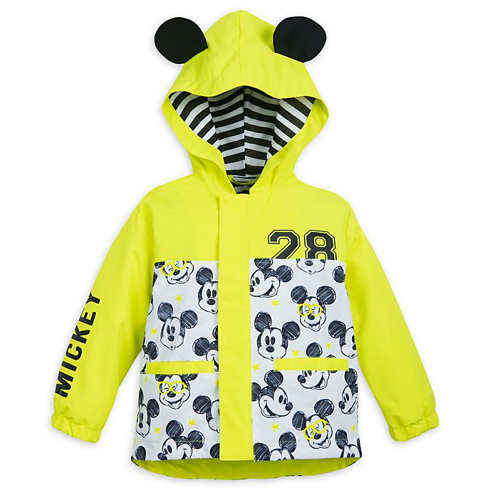 Disney Store Mickey Mouse Packable Raincoat For Kids