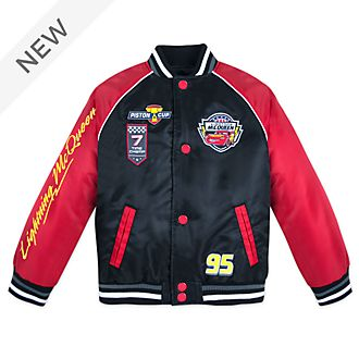 Disney Store Lightning McQueen Varsity Jacket For Kids