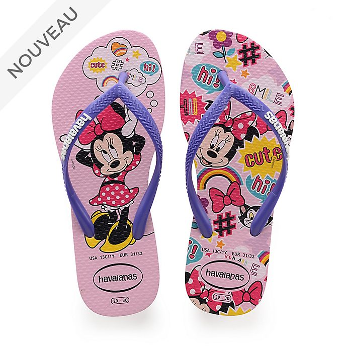 Havaianas Tongs Minnie roses pour enfants