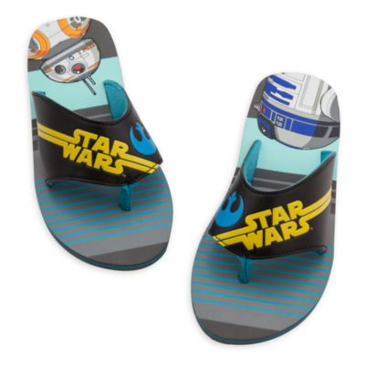 R2-D2 and BB-8 Flip Flops For Kids, Star Wars: The Force Awakens