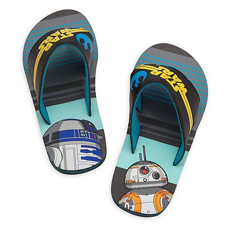 Chanclas infantiles de R2-D2 y BB-8 de Star Wars: El despertar de la fuerza