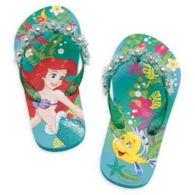 the little mermaid flip flops for kids. Black Bedroom Furniture Sets. Home Design Ideas