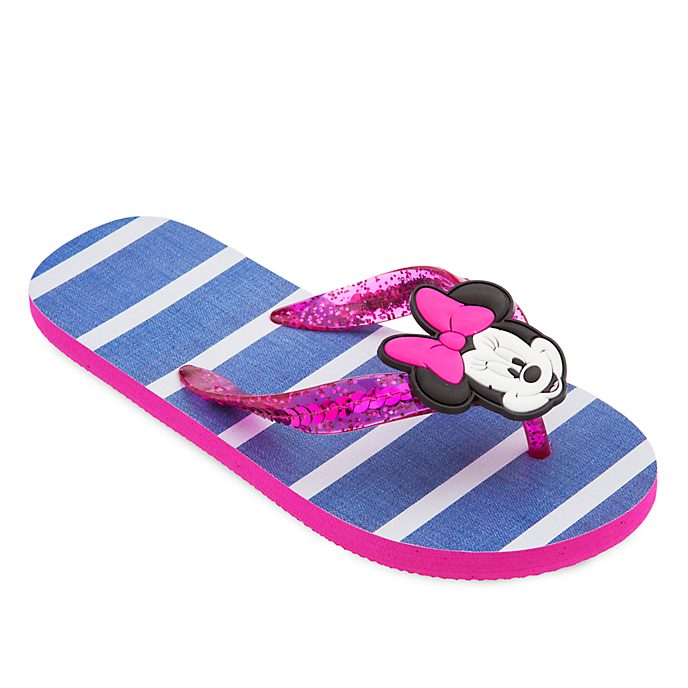 Disney Store Minnie Mouse Flip Flops For Kids