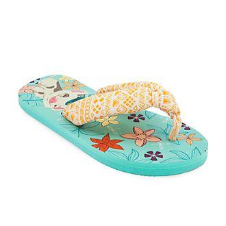 Disney Store Moana Flip Flops For Kids
