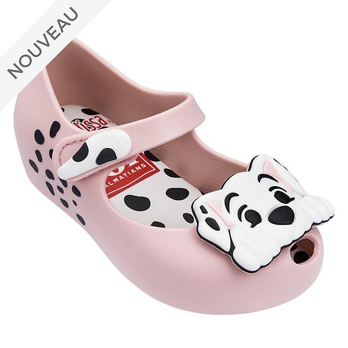 Melissa Chaussures Les 101 Dalmatiens rose poudre pour bébé